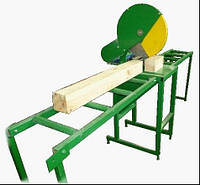 Торцовочный станок ЦПН 400 для поперечной раскройки доски и бруса, подача пилы осуществляется вручну