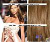 Набор натуральных волос на клипсах 52 см. Оттенок №7. Масса: 130 грамм.