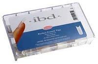 Типсы IBD 100шт натуральные с короткой контактной зоной ibd Natural Nail Tips