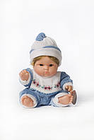 Детский пупс-щекастик голубой.