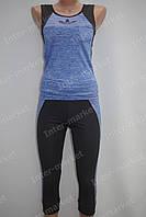 Женский летний костюм Adidas голубой
