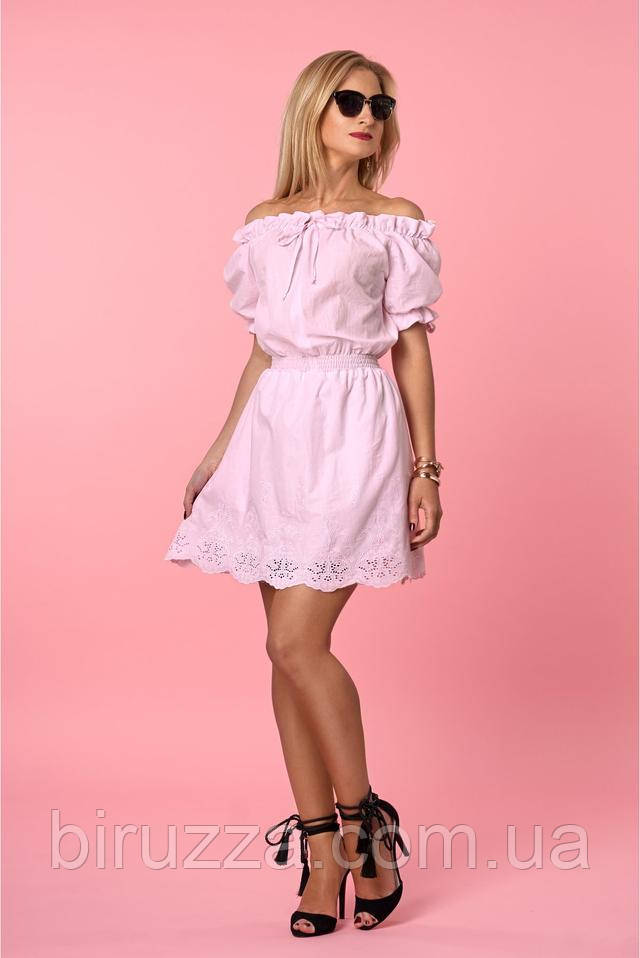 Рубашечный коттон платье