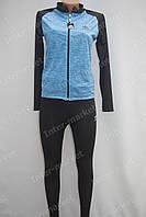 Женский спортивный костюм в стиле ADIDAS на замке голубой, фото 1