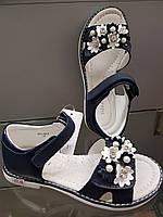 Детские и подростковые кожаные босоножки для девочки 32-37
