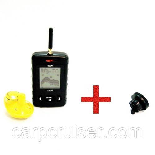 Беспроводной эхолот LUCKY FFW718-BLK с магнитным держателем на подставку под удилище, для рыбалки, для фидера