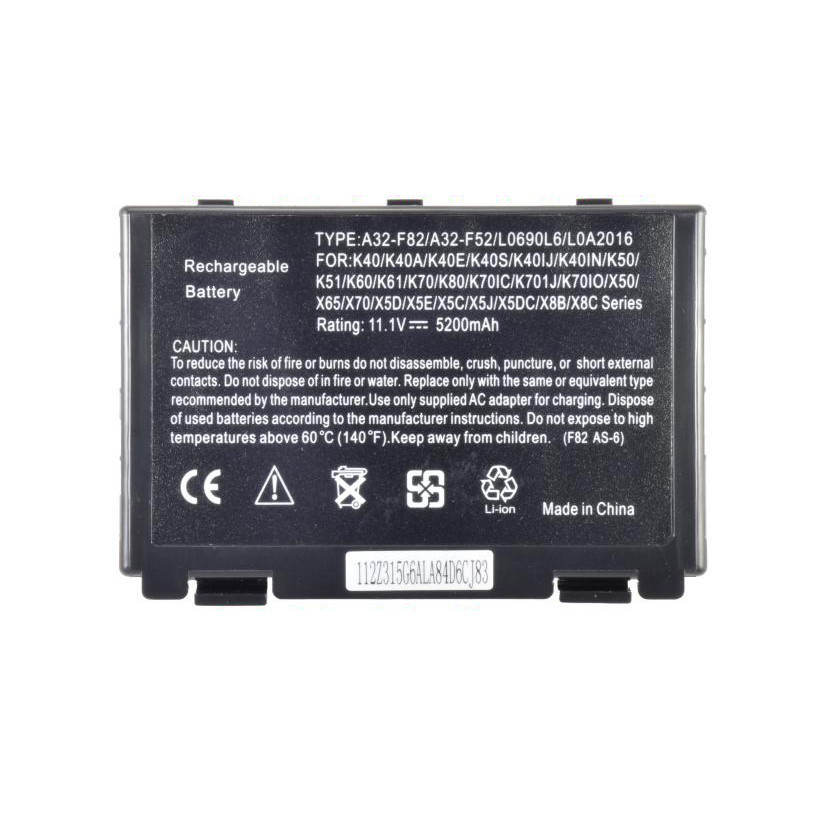 Батарея для ноутбука ASUS K40 K50 K51 K60 K61 K70 K80 X50 X65A X70 X5 X8 E S IJ IN IC IO D E C J DC