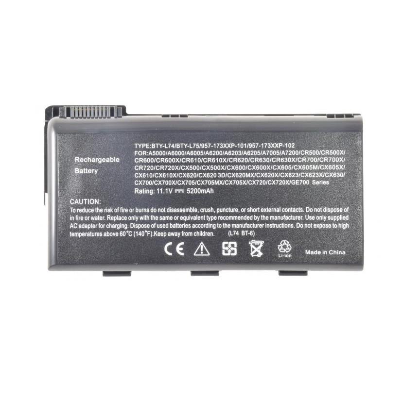 Батарея для ноутбука MSI A5000 A6000 A6005 A6200 A6203 A6205