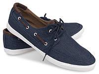 Мужские, джинсовые мокасины синего цвета размеры 40