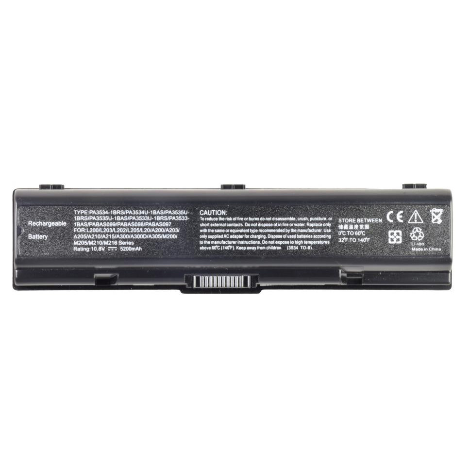 Батарея для ноутбука TOSHIBA Satellite A300 A305 L200 M200 M205 M209