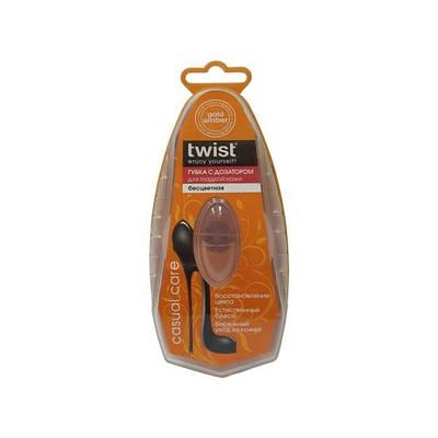 Губка с дозатором для гладкой кожи TWIST бесцветная