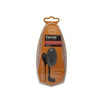 Губка с дозатором для гладкой кожи TWIST черный