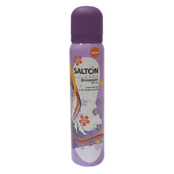 Дезодорант для ног с маслом ши и частицами шелка SALTON