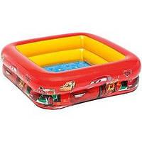 Детский надувной бассейн Intex 57101 «Тачки» (85х85х23 см.) Мягкое дно.