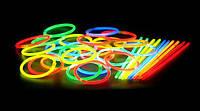 Светящиеся неоновые браслеты, палочки
