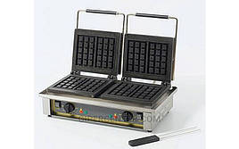 Электровафельница двухпостовая Roller Grill GED 10 для объемных вафель прямоугольной формы 3х5 клеток