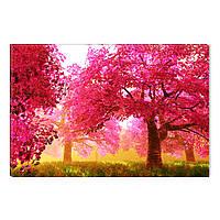 Светящиеся Картины Startonight Красный Лес Природа Пейзаж Печать на Холсте Декор стен Дизайн Интерьер