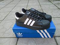 Подростковые кроссовки Adidas SuperStar натуральная кожа
