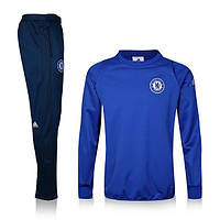 Спортивный костюм Adidas, Челси (синий). Футбольный, тренировочный. Сезон 16/17 (реплика)