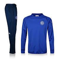 Спортивный костюм Adidas, Челси (синий). Футбольный, тренировочный. Сезон 16/17
