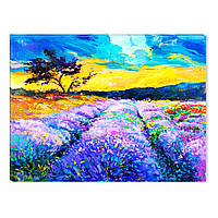 Светящиеся Картины Startonight Природа Лавандовый Пейзаж Печать на Холсте Декор стен Дизайн Интерьер