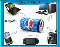 Портативная Колонка MP3 micro pepsi cola