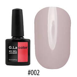 Гель лак G.La Color № 003, Бледно-розовый, 10 мл