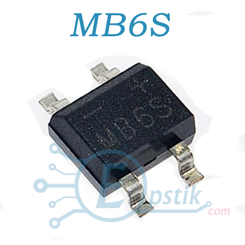 Диодный мост MB6S (MBS6, B6S) 0.5A 600 В SOP4