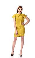 Платье с рюшами. Цвет Горчичный, фото 1