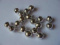 Бубенчик металлический, 8 мм, серебристый