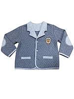 Пиджак для мальчика 68, 86, темно-серый меланж