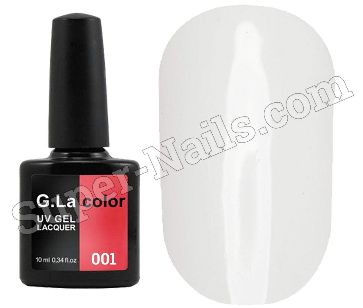 Гель лак G.La Color № 001, Белый , 10 мл
