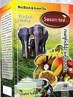 """Черный чай Susan-tea """"Тропические фрукты"""" 100г"""