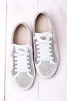 Кеды женские замшевые белые RS 1764/120, фото 1
