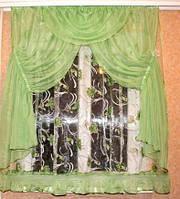 Тюль на кухня со шторами - Стелла