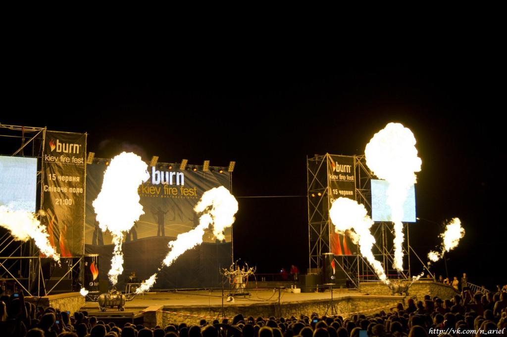 Киев Фаер Фест - огненный орган Генри Хотта 2013г
