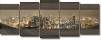 "Картина модульная ""Вечерняя дымка""  (2070х800 мм)  [5 модулей]"