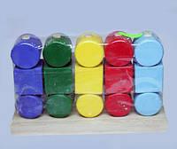 Деревянная игрушка логика И034 Квадраты и цилиндры 17*5*11 см