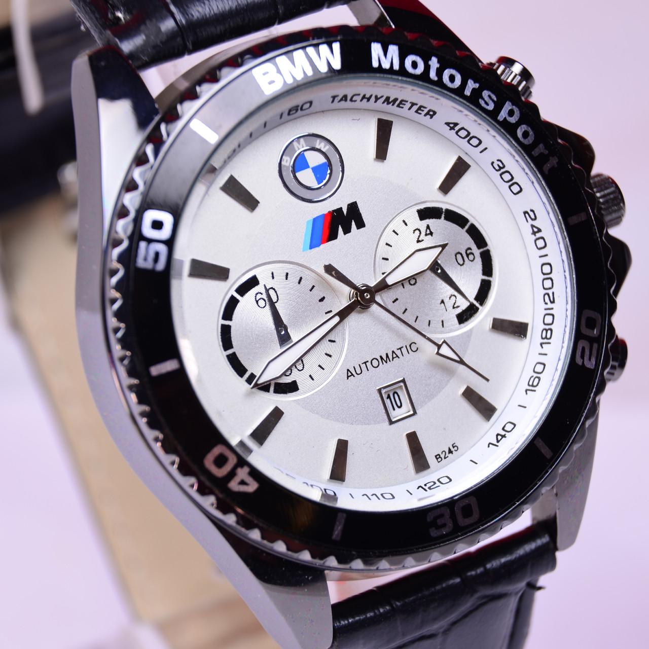 2548e8dd Мужские наручные часы BMW (B243) кварц календарь белый циферблат - интернет-  магазин