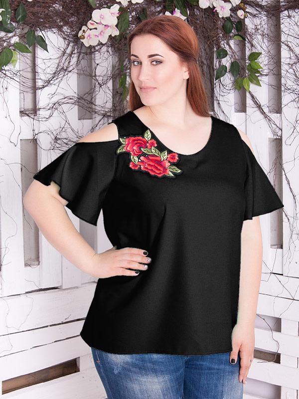 """Женская блузка большого размера """"Мали 5"""" до 70 размера"""