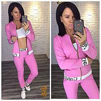 Женский спортивный костюм тройка в трех расцветках 725