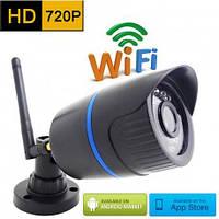 Беспроводная уличная WiFi IP камера с разрешением 1280*720P c поддержкой стандартов P2P и ONVIF (MiSecu 511SW)