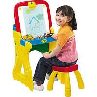 Парта-мольберт со стулом и магнитной доской желтая Crayola Play 'N Fold 2-in-1 Art Studio