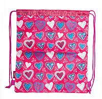 Школьная сумка для обуви 1 Вересня smart sb-01 hearts 40*35 см (553589)