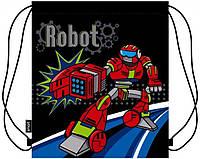 Школьная сумка для обуви 1 Вересня smart robot 36*41*28 см (531295)