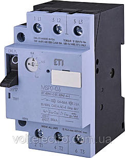 Автоматический выключатель защиты двигателя MSP0-0,6 0,4...0,6А