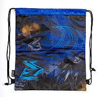Школьная сумка для обуви 1 Вересня smart sb-01 blue car 40*35 см (553597)