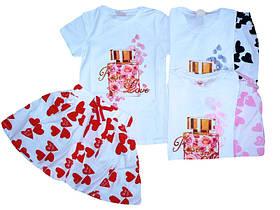 Комплект-двойка для девочки, размеры 98,98,104,110,116,128, Glo-story, арт. GLT-4087