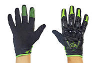 Мотоперчатки кожаные с закрытыми пальцами и протектором FOX MS-368: кожа + текстиль, M-XL