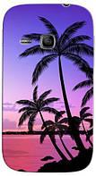 Чехол для Samsung gt-s6312/6310 galaxy young (Пальмы)