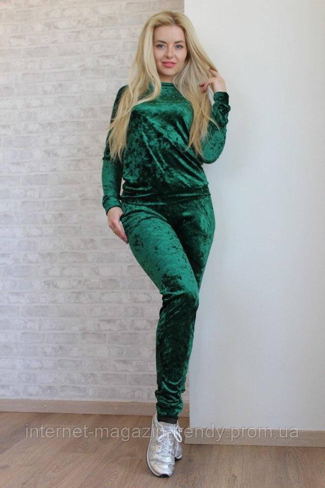 Стильный костюм из бархата в пяти расцветках 266